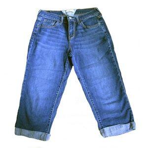 Levi Strauss Stretch Cropped Capri Jeans Size 4